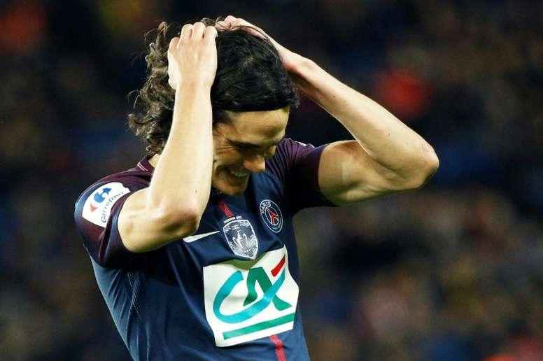 Cavani analizó el choque ante el Madrid. AFP