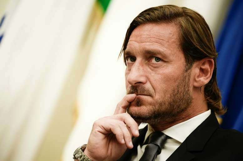 Totti confirmó que dio positivo en coronavirus. AFP