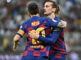 Griezmann fait de l'éloge à Messi. AFP