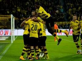 Dortmund a surclassé le FC Cologne avec notamment un doublé signé Maximilian Philipp. AFP