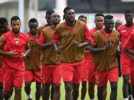 Les Togolais à l'entraînement le 23 janvier 2017, à Port-Gentil au Gabon. AFP