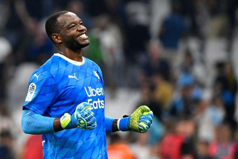 Le président de l'Olympique de Marseille a encensé son gardien. AFP