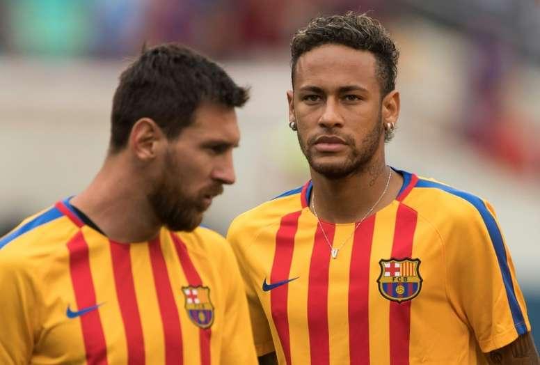 La no llegada de Neymar sigue coleando. AFP