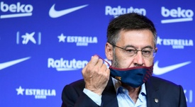Bartomeu resigns as Barcelona president. AFP