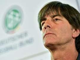 Le sélectionneur de l'équipe d'Allemagne Joachim Löw en conférence de presse. AFP