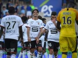 Monaco gâche, Rennes prend les commandes. AFP