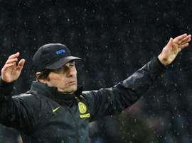 Conte avisó antes del derbi contra el Milan. AFP