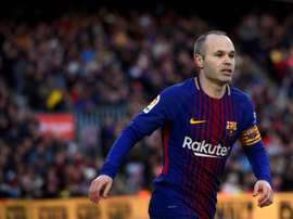 Iniesta has been linked with an end-of-season move away from Barcelona. AFP