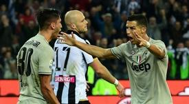 Cristiano Ronaldo a marqué son but. AFP