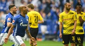 Schalke 04 s'octroie le derby de la Ruhr cette saison en championnat. AFP