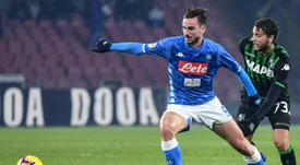 Napoli are worried about big foreign clubs buying Fabian Ruiz off them. AFP