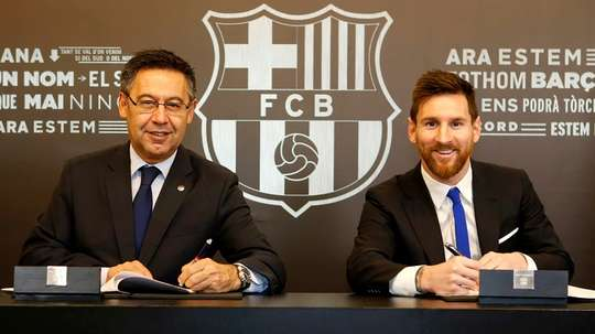 Barcelone a l'obligation de prolonger Messi, selon Bartomeu. AFP