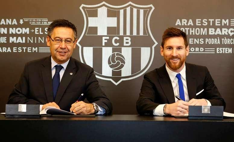 Las declaraciones de Messi tenían mensaje incluido. AFP/Archivo