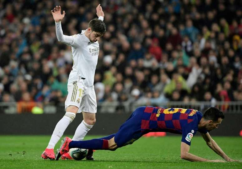 El Madrid y Fede Valverde dieron calabazas al Bayern. AFP