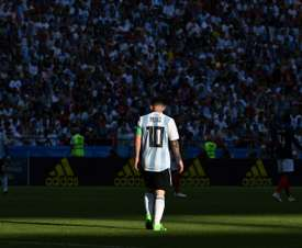 Lionel Messi lors du du 8e de finale contre la France. AFP