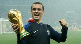 El Atlético puede presumir de tres ganadores del mundo en sus filas. AFP