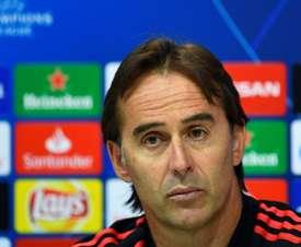 Julen Lopetegui is under increased pressure at the Santiago Bernabéu. AFP