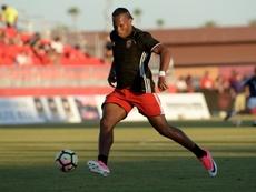 Didier Drogba, avant un match contre les Whitecaps de Vancouver. AFP