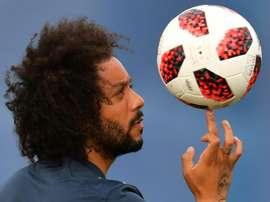 Le défenseur brésilien Marcelo à l'entraînement le 3 juillet. AFP
