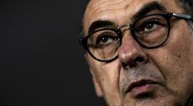 Sarri habló de las remontadas de la Juventus y de los rivales. AFP