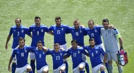 La sélection italienne avant le match de l'Euro contre la Suède, le 17 juin 2016 à Toulouse. AFP
