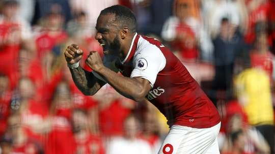 Lacazette bagged the crucial goal. AFP