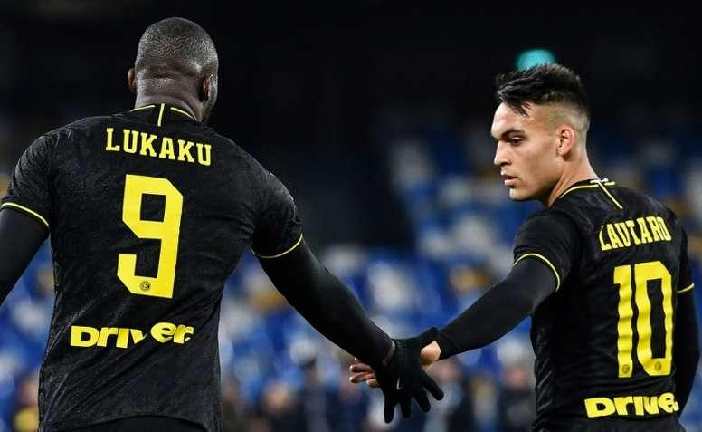 Lautaro fala sobre o Barça. AFP