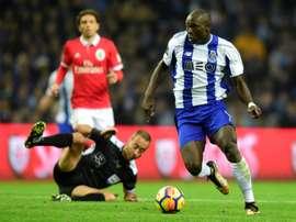 O camaronês soma 26 golos em 38 jogos, pelo FC Porto, esta época. AFP