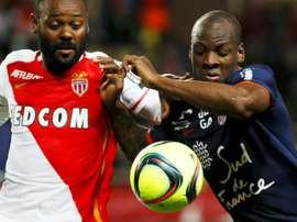Vagner Love, le 14 mai 2016 lors du match Monaco-Montpellier. AFP