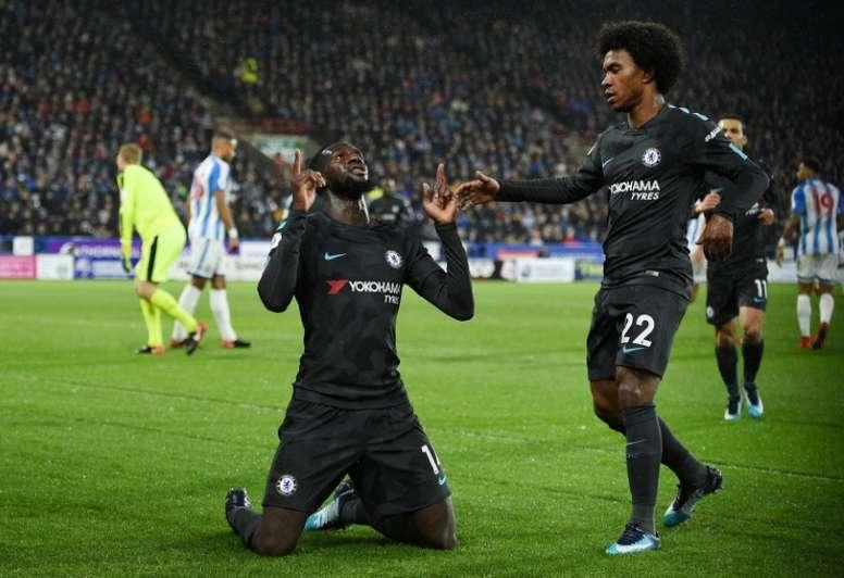 El Chelsea logró la victoria por un claro 1-3. AFP