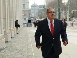 Rafael Salguero à son arrivée au tribunal fédéral. AFP