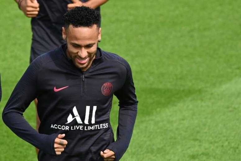 Um fio de esperança culé por Neymar. AFP