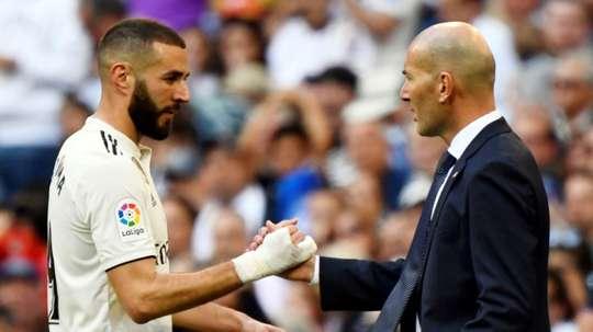 Anniversaire spécial pour Benzema et Zidane. AFP
