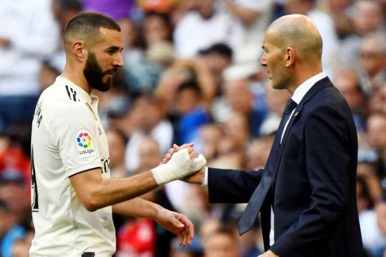 Zidane respondió a la prensa tras el empate ante el Getafe. AFP