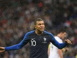 Mbappé será uma das estrelas da França. AFP