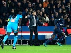 El nuevo técnico del Marsella consiguió vencer con su equipo al Clermont Foot. AFP