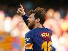 Messi ne se voit pas autre part en Europe qu'au Barça. AFP