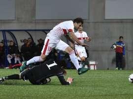 Lattaquant Admir Mehmedi a inscrit le but de la victoire de la Suisse sur le terrain dAndorre, le 10 octobre 2016