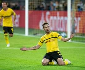 Raphaël Guerreiro prolonge jusqu'en 2023 avec Dortmund. AFP