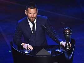 Il dit ne pas avoir voté pour The Best... mais son vote a été enregistré pour Messi. AFP
