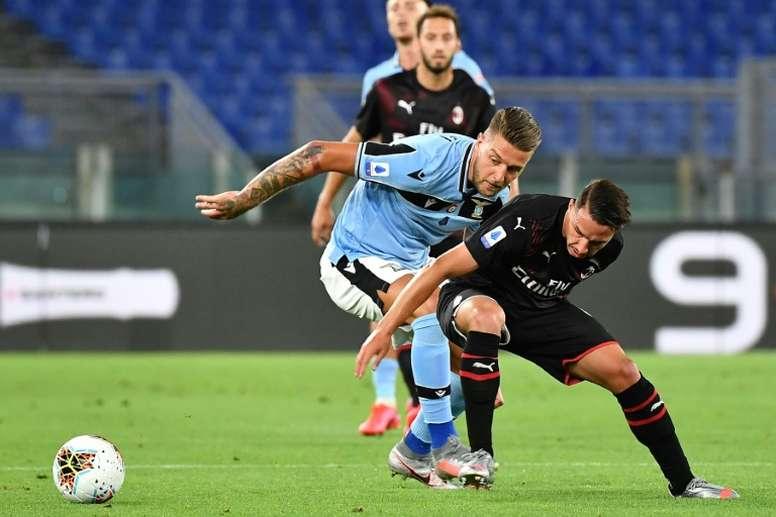 Le formazioni ufficiali di Lazio-Sassuolo. AFP
