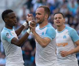 Les compos probables du match de Ligue 1 entre Guingamp et Marseille. AFP