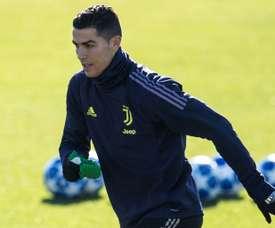 Cristiano Ronaldo lors d'une séance dentraînement. AFP