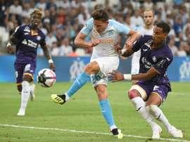 Thauvin lors du match face à Toulouse. AFP