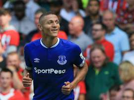 Richarlison is a doubt to face Chelsea. AFP