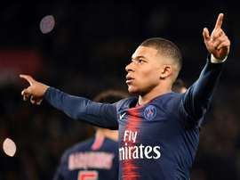 Kylian Mbappe has been linked to a move to the Bernabeu. AFP