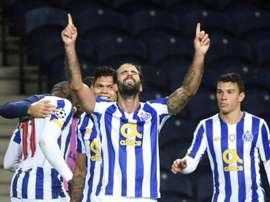 Porto se rassure en gagnant face à l'Olympiakos. afp