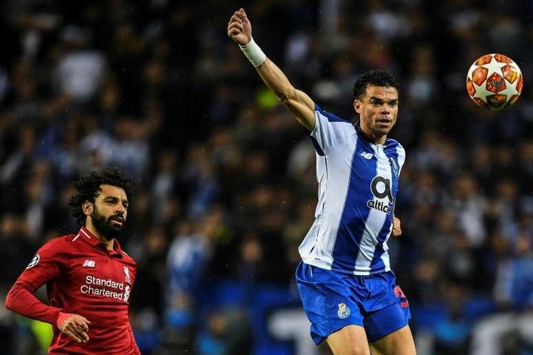 La blessure de Pepe inquiète Porto. AFP