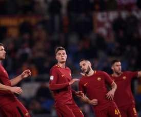A Roma empatou em 1-1 na receção ao Sassuolo. AFP