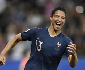 Gauvin a ouvert le score face à la Norvège. AFP